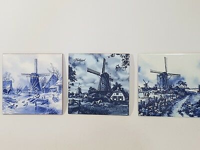 3 decorative tiles made in Holland ter steege x 3