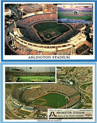 (8) Texas Rangers Arlington Stadium Postcards, Tough Variation