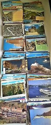 Lot of 400 Vintage Postcards United States Scenic Americana Travel The Open Road