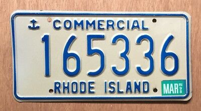 1998 Rhode Island Commercial License Plate