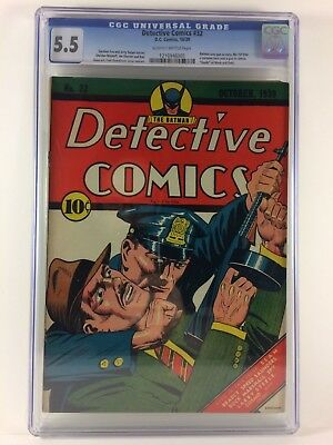 Detective Comics #32 1939 Best Universal Blue Label CGC 5.5 You Will Ever See!!