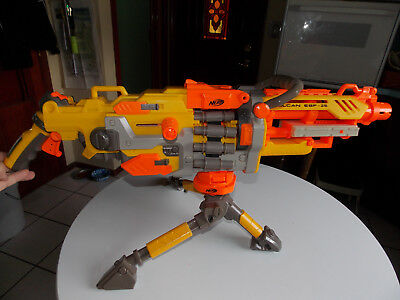 Nerf Vulcan Ebf- 25 Dart Blaster Machine Gun N-Strike With Tripod
