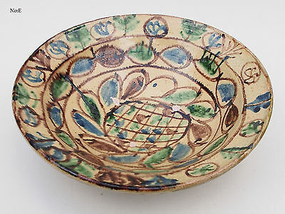 orient Keramik Schale islamic glazed Village clay Pottery bowl Afghanistan 17/E