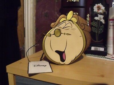 Disney Beauty and The Beast coin purse. Cogsworth. Primark. BNWT