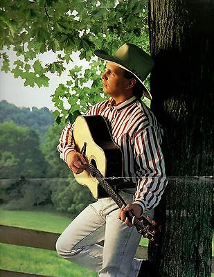 Garth Brooks 2 Page 1994 Magazine Centerfold Poster Country Music