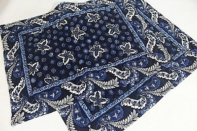 VERA BRADLEY 2 Placemats Quilted COTTON BLUE COIN Free Ship