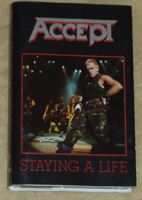 Musikkassette MC | Accept - Staying A Life | 1990 | Rock, Heavy Metal