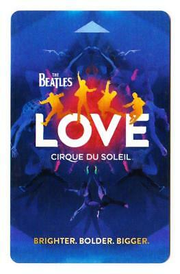 MIRAGE casino *Beatles Love Brighter Bolder Bigger* las vegas hotel key card