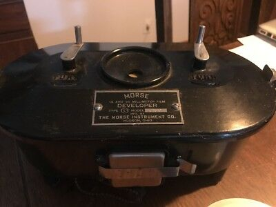 Vintage Morse Type G3 Film Developer 16 and 35 Millimeter 16mm 35mm Camera