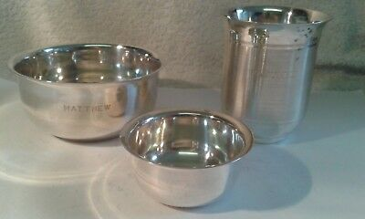 Job Lot of 3 Vintage Silver Plated Collectables - 111 gms.