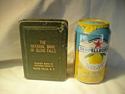 RARE Vintage Book Style Bank THE NATIONAL BANK OF GLENS FALLS, N.Y.