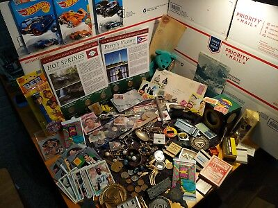 HUGE VINTAGE ESTATE LOT, JEWELRY, SILVER,COINS, COLLECTABLES, UNCIRCULATED,box#9