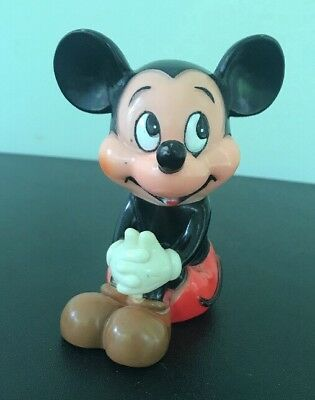 Vintage Walt Disney's Mickey Mouse Coin Piggy Bank 4.5""