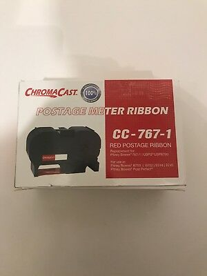 Chroma Cast FP CC-767-1  Red Postage Ribbon For Pitney Bowes/ Replacement