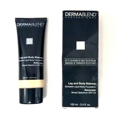 Dermablend Professional Leg & Body Makeup Liquid Body Foundation Fair Nude 3.4oz