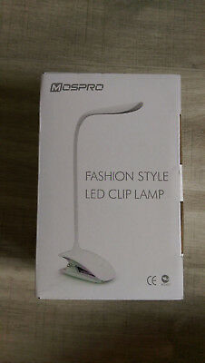 fashionstyle LED Clip Lamp -Mospro Tischlampe, Leselampe Klemmleuchte Dimmbar