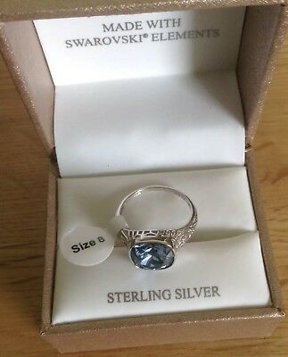 952cd411e BNIB AVA RO Swarovski Elements Ring US 8 UK Size P/Q - £19.99 ...