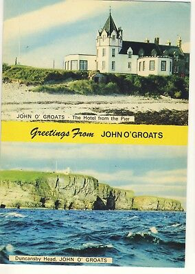 Old Postcard (1982) - Greetings from John O'Groats - Posted M193
