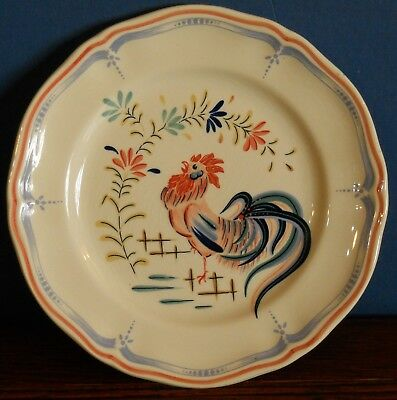 A traditional French 19cm Plate Chanticlee by Longchamp France Howard Kaplan