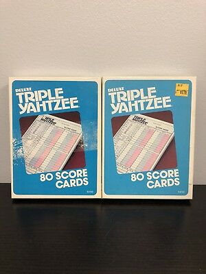 Lot of Vintage 1980 Deluxe Triple Yahtzee Score Cards E4100