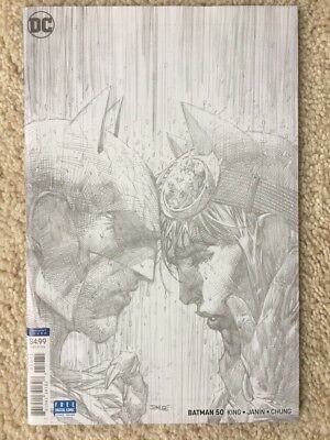 Batman #50 1:100 Jim Lee Black and White Sketch variant