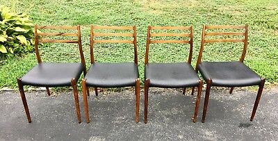 Danish rosewood J L Moller Dining Room Chairs Set Of 4 #78