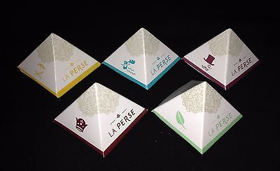 """LA PERCE saffron ""Pack of 5 Silken Pyramid Tea Bags, 5  tastes with saffron"