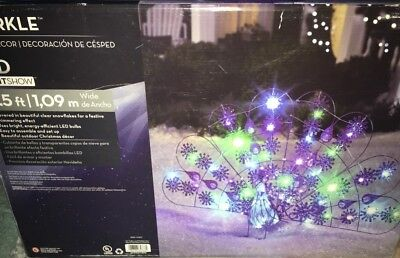 RARE 2011 Gemmy Sparkle Peacock LED Light Lawn Decoration 3.5 ft wide Christmas