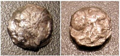 Rare Ancient Greek Coin 2 Faces on the Front One Head on Rev. 10.2 mm .88 Grams