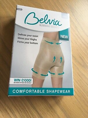 965b7cf787 Size X Large Beige Slimming Shorts New In Box pack By Belvia Jml
