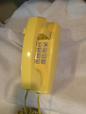 AT&T YELLOW CS 2554 Tradition 100 Series Push Button Wall Mount Telephone
