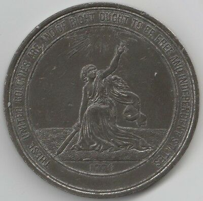 1876 US Centennial Philadelphia Exposition Medal Large 58mm Low Mintage Rare