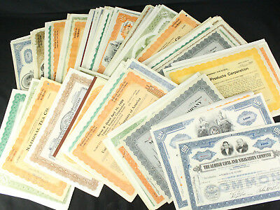 Huge Collection Lot of 200+ Vintage Stock Certificates Copper Mining, Tobacco++