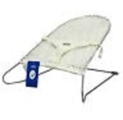 New Mesh Baby Bouncer Rocker Safety Harness White Play Sleep