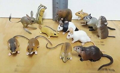 13 Kaiyodo ChocoQ lot, mouse, jerboa, gerbil, dormouse, vole, nutria, chipmunk