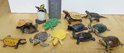 12 Kaiyodo ChocoQ turtle lot, Be-Pal Special collection, CapsuleQ sea & hatching