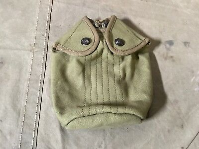 55K Wwi Us M1910 Eagle Snap Canteen Cover- Pea Green Canvas
