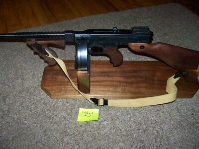 ..solid Walnut Display Stand For Thompson 1927A-1 (T-1) W/drum ...tommy Gun! #2