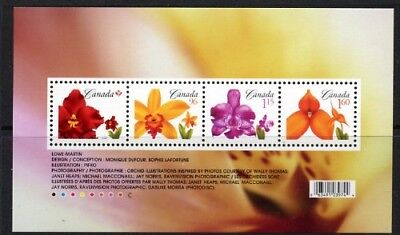 2007 Canada - Orchids Mini Sheet MUH