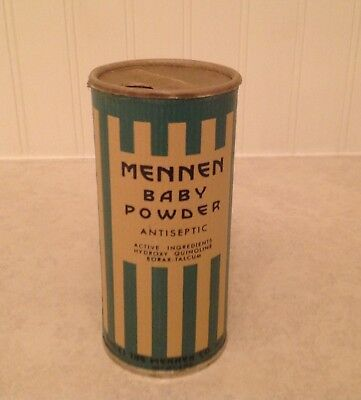 New, Old Stock Vintage Mennen Baby Powder Cardboard Victory Container-Full-Rare!