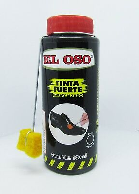 El Oso Black Leather Shoe Shine Dye 100 ml 3.8 Oz + applicator-also purse jacket