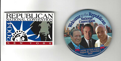 2004 Republican National Convention Pin Back Souvenir Buttons