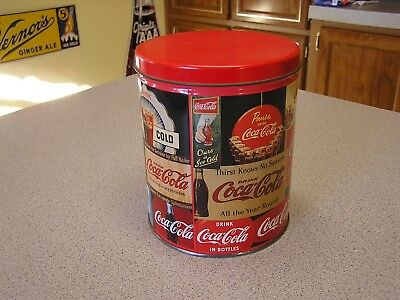 Vintage 1993 COCA  COLA TIN WITH JIGSAW PUZZLE ( MINT ) COKE SIGNS PUZZLE