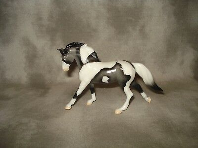 Breyer CM Glossy Decorator Grey Pinto Cantering Warmblood Stablemate