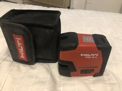 Hilti Model Pm 2-L Pulse Power Line Laser With Case Pre-Owned Free Shipping