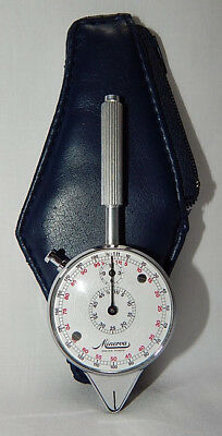 Very Nice Minerva Opisometer Rolling Scale For Maps Or Drafting W/case