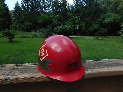 Painted 4Th Army Helmet Wwii Liner Firestone