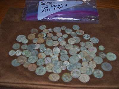 Lot Of 100 Ancient Roman Bronze Coins High Grade Top Quality Misc Sizes 6.6 Oz