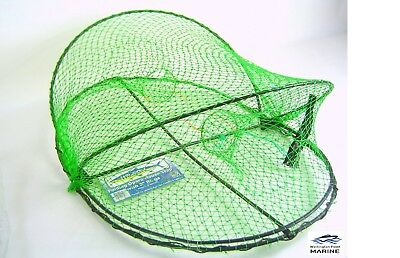 Wilson Folding Opera House Traps with 3 Inch Entry Rings -Green Yabby Nets