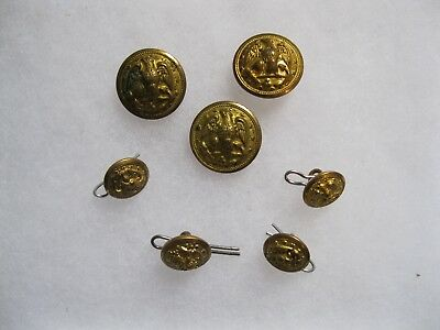 WW2 Navy buttons full set for coat Waterbury
